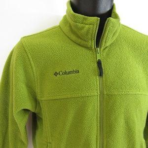 Columbia Fleece Sweatshirt Youth 10-12 Green